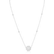 18K White Gold and Forevermark Diamond Necklace