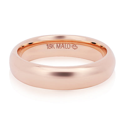 18K Rose Gold 5mm Men's Wedding Band