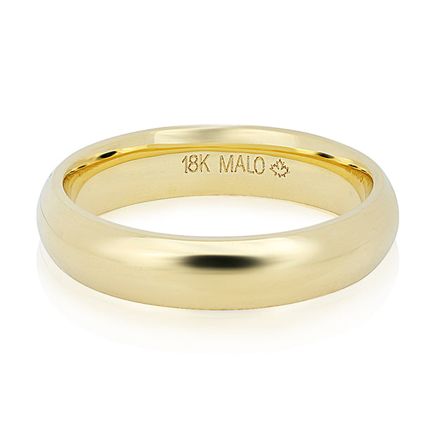 18K Yellow Gold 5mm Men's Wedding Band