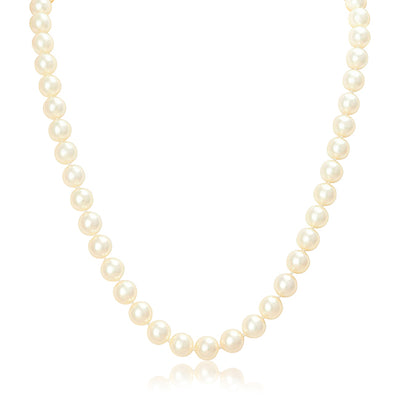 Akoya Pearl Necklace with a 14K White Gold Clasp
