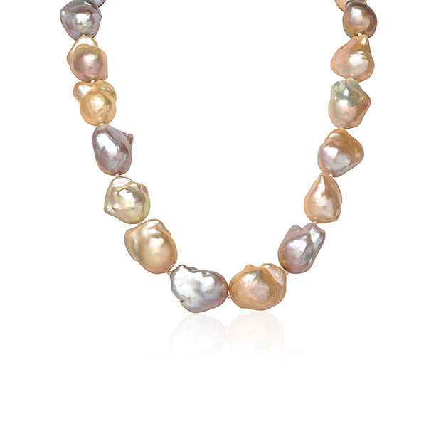 Multi Color Baroque Freshwater Pearl Necklace