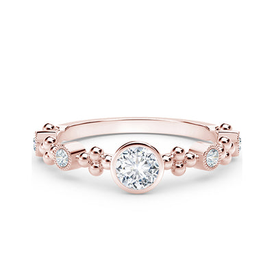 18K Rose Gold Tribute Collection Diamond Ring