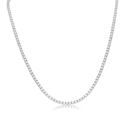 TIVOL 18K White Gold and Diamond Necklace