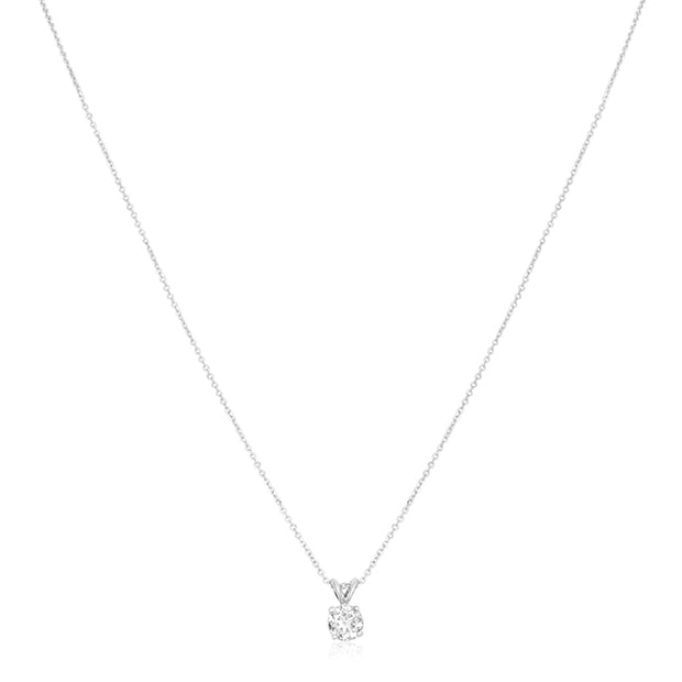 18K White Gold and Diamond Necklace