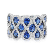 Diamond and Sapphire Ring