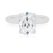 TIVOL Platinum Solitaire Cushion Cut Forevermark Diamond Engagement Ring Top View