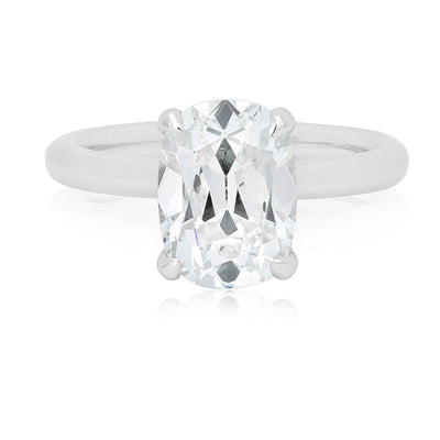 Platinum Solitaire Cushion Cut Forevermark Diamond Engagement Ring
