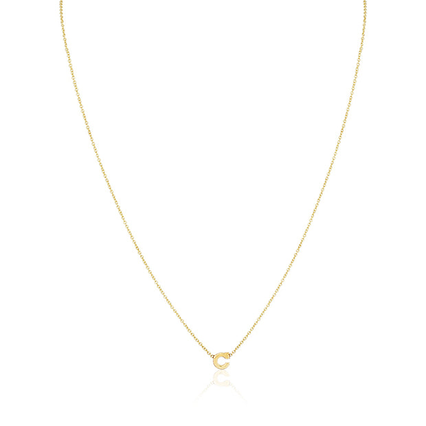 "14K Yellow Gold Initial ""C"" Necklace"