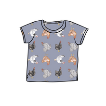 Load image into Gallery viewer, Topsey Turvey Hens T-Shirt