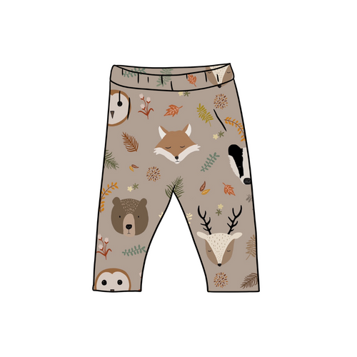 Country Animals Fitted Leggings