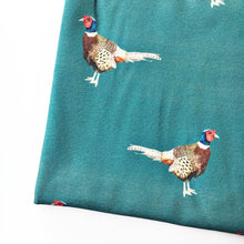 Load image into Gallery viewer, Teal Pheasant Dungarees