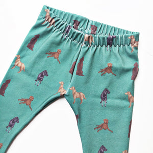 Green Labrador Leggings