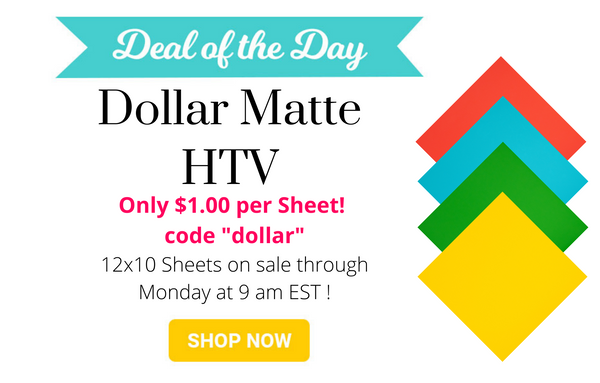 dollar matte HTV sale