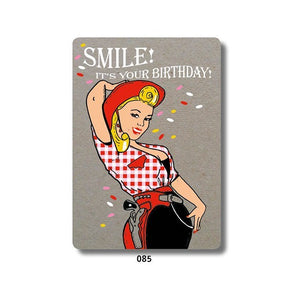 Geronimo Cards Cowgirl pinup Happy birthday