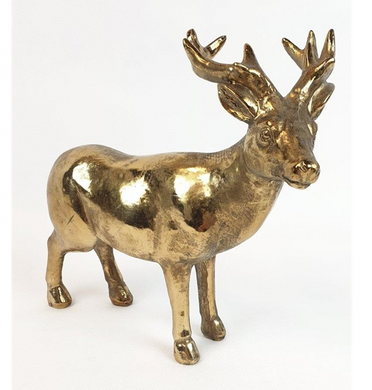 Mansion - Copper Standing deer big antlers 20.5x9x19cm