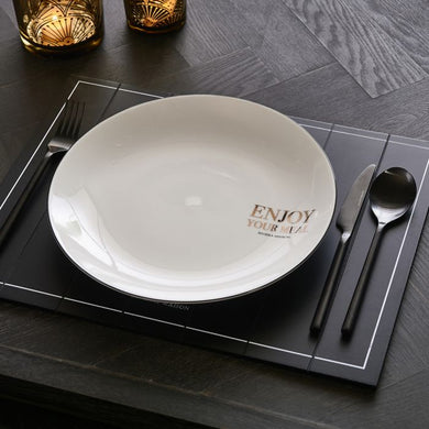 Riviera Maison - Enjoy Your Meal Dinner Plate