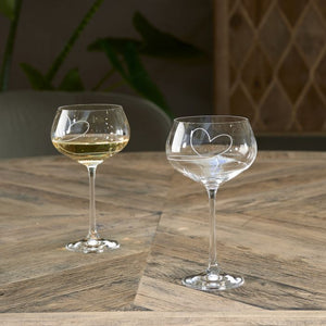 Riviera Maison - With Love White Wine Glass
