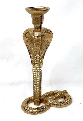 Mansion - Gold Alu Cobra Candleholder
