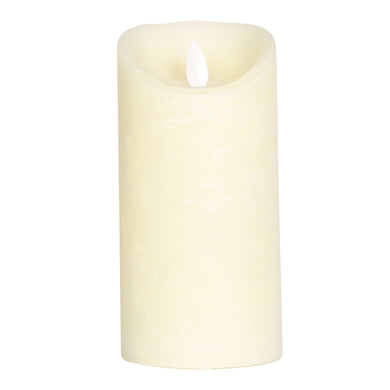 PTMD - LED light candle Rustic cream moveable flame 15x8