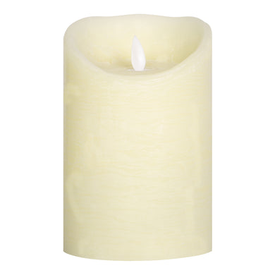 PTMD - LED light candle Rustic cream moveable flame 15x10