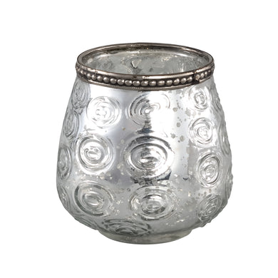 PTMD - Vieve Glass silver tealight circle votive round