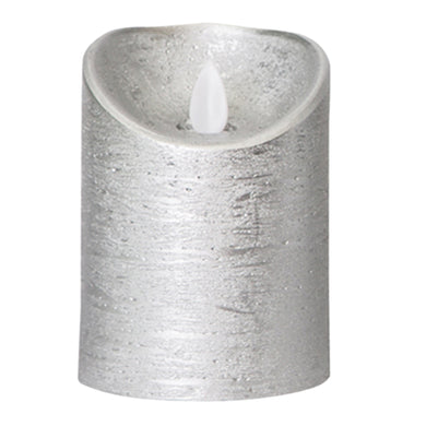 PTMD - LED Light Candle metallic taupe moveable flame S