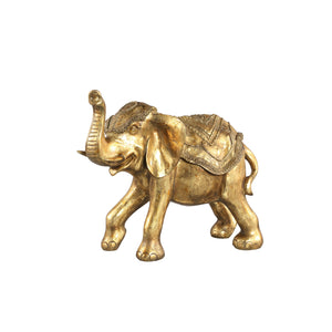 PTMD - Sergio Gold poly elephant standing statue XL