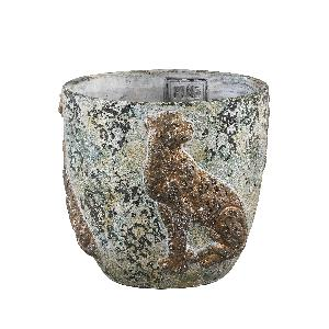 PTMD - Norton Grey cement pot tiger round L