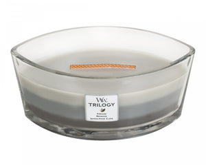 WoodWick Trilogy Warm Woods Ellipse Candle