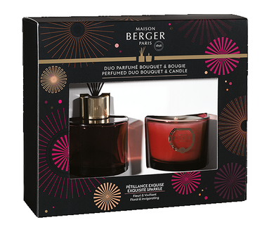 Maison Berger Duoset Cercle Cube 80ml + bougie Pétillance Exquise