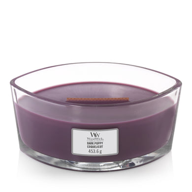 WoodWick - Dark Poppy HearthWick Flame Ellipse