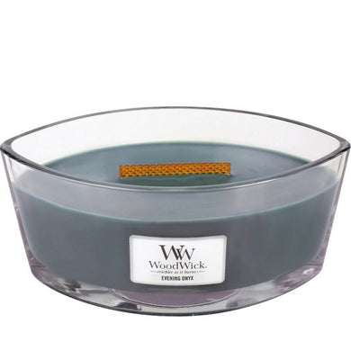 WoodWick - Evening Onyx Ellipse HearthWick Flame