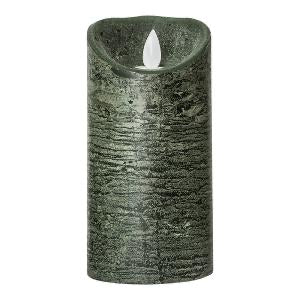 PTMD - LED Light Candle dark green moveable flame M