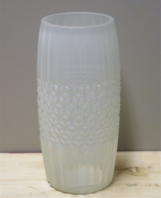 Mansion - Cilinder Vase 2Shape S 11.5*25cm Milky White
