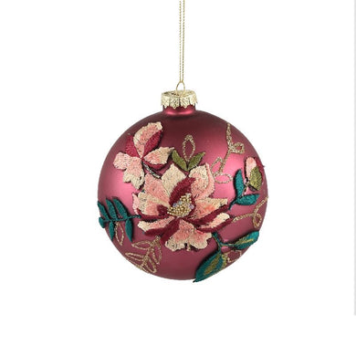 PTMD - Christmas Prime purple glass ball flower print S