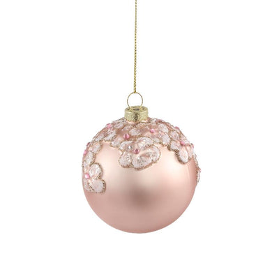 PTMD - Chistmas Prime pink glass ball flower votive S