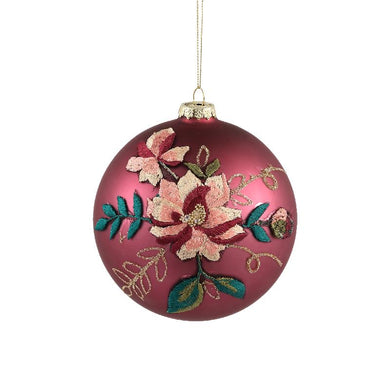 PTMD - Christmas Prime purple glass ball flower print L