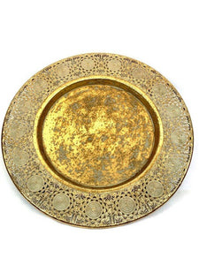 Mansion - Weathered gold metal plate 53*53*6