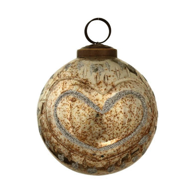 PTMD - Christmas Briss copper glass ball glitter heart S