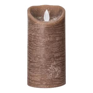 PTMD - LED Light Candle brown moveable flame M