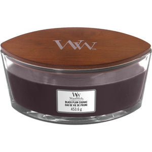 WoodWick Black Plum Cognac Ellipse Candle