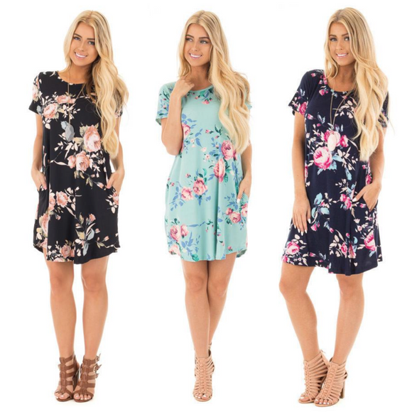 Mini Work Dress Fashionable Floral