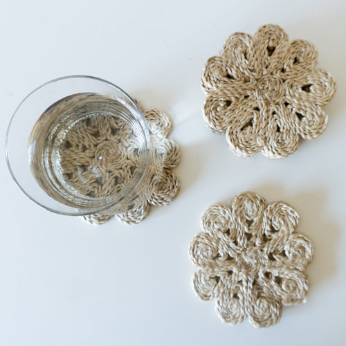 Shapla Jute Coasters - Large
