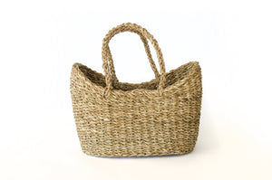 Half Round Natural Hogla Basket
