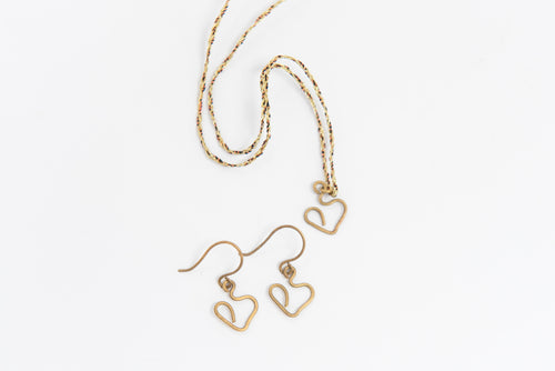Brass Heart Necklace