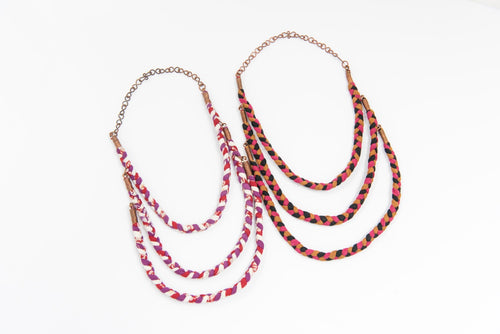 Sari Braided Necklace