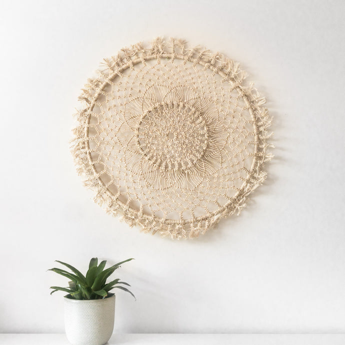 Jute Macrame Wall Mandala Medium