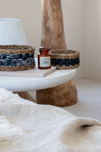 Seagrass & Recycled Denim Basket Set
