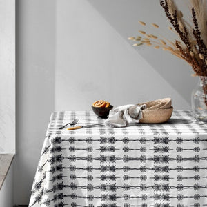 Wattle Organic Cotton Tablecloth in Black