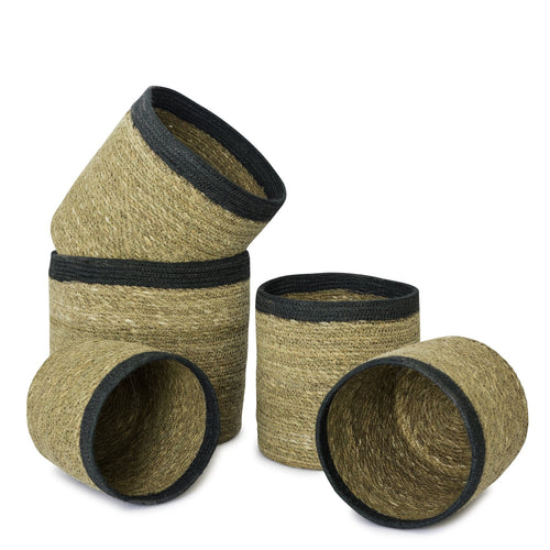 Grey Seagrass Basket - Set of 5
